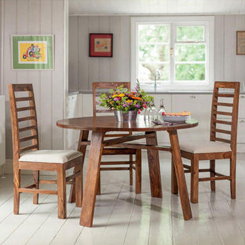 980765c462 Sheesham Wood 4 Seater Round Dining Table Set, Rs 37745 /set | ID ...