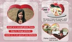 Rotating Heart Shape Photo Frame