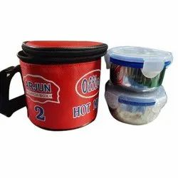 Stainless Steel Arjun 2 Container Steel Lunch Box