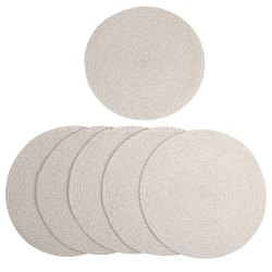 Light Beige Round Cotton Table Placemats