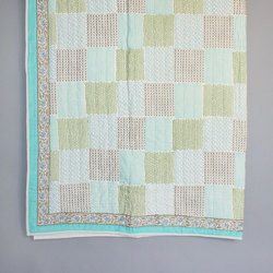 Checkered Hand Block Quilt