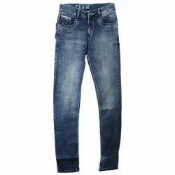 Men Blue Broad Denim Pants