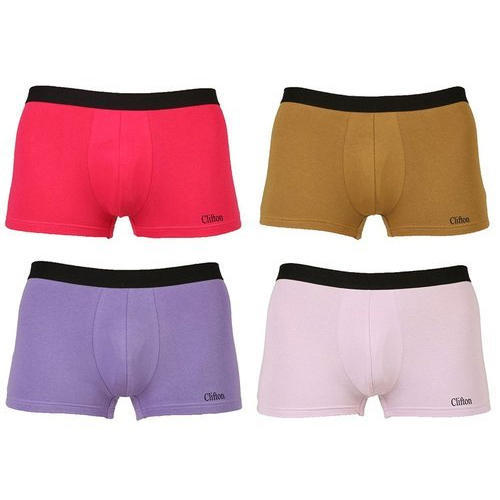 73064ecf87 Blue And Pink And Light Voilet Cotton Mens Trunk Underwear