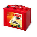Eko 60l Exide Auto Mini Truck Battery, Capacity: 81-100ah, Warranty: 36 Months