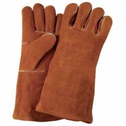 Unisex Leather Safety Gloves