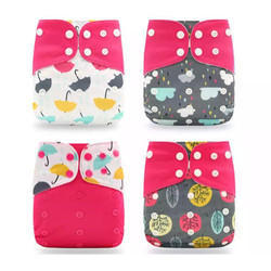 Multicolor Printed Cotton Baby Nappies, Packaging Type: Packet