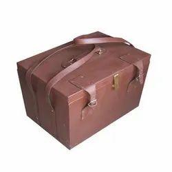 Plain Brown Leatherette Brief Case