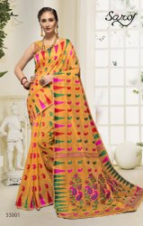 Stylish  Black Designer Bridal Saree