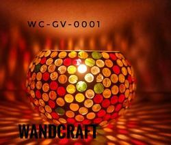 Mosaic Glass Candle Votive Holders
