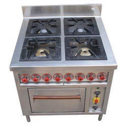 Four Burner Bulk Cooking Range
