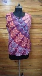 Cotton Casual Girls Top, Size: Free Size
