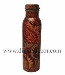 Matt Printed Pure Copper Water Bottle