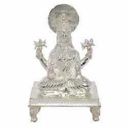 Mahalaxmi Silver Statue
