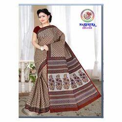Pure Cotton Printed Saree, Length: 5.50 m