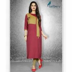 Ladies 3/4th Sleeve Rayon Kurti