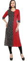 Block Print Double Colour Kurti