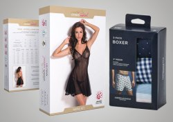 Printed Undergarment Packaging Box