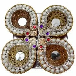 Golden Stone Diya 7092004891107