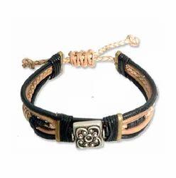 Fashion Unisex Leather Bracelet with Round Leather Cord