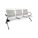 Shining Silver Three Seater Waiting Visitor Chair