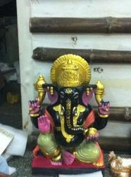 Ganpati In Black Stone