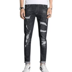 Mens Regular Fit Ripped Casual Denim Jeans, Waist Size: 28-40
