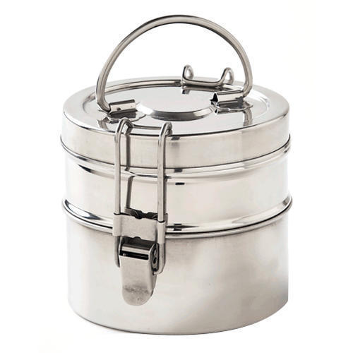 86edc501537 Silver Stainless Steel Lunch Box