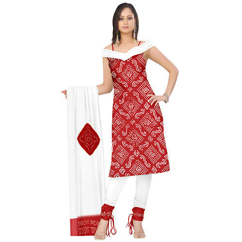 Red Bandhani Suit
