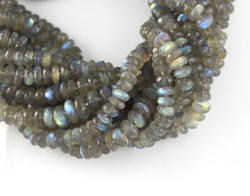 Labradorite Faceted Roundel Stone Beads