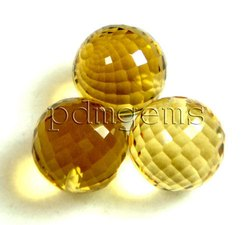 Citrine Fancy Faceted Round Balls