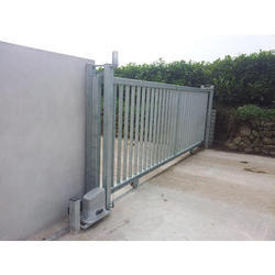 Color Coated MS Automatic Sliding Gate, For Residential