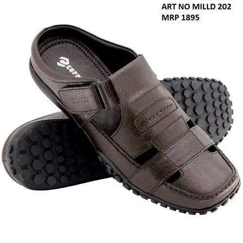 b06afd038 Copper Brown Men  s Leather Sandal