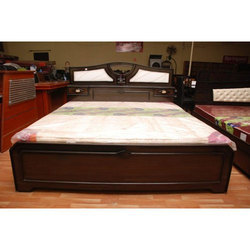 Wooden Double Cot Bed लकड क कट पलग लकड