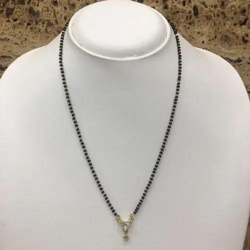 6ca38cce87d48 Daily Wear Ladies Designer Fancy American Diamond Mangalsutra ...