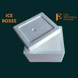 White Plain Thermocol Ice Box, Thickness: 20 - 30 Mm