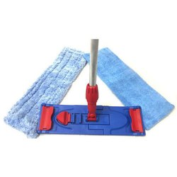 Ecokleen Blue Microfiber Wet and Dry Flat Mop, Size: 40 cm