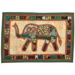 Rich Embroidery Elephant Wall Hanging 527