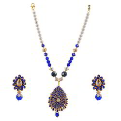 Fancy Kundan Work Earrings Necklace Set 232