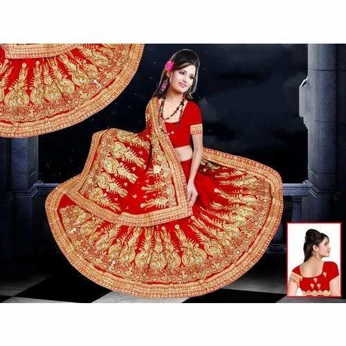 aad203eda7 Ladies Handwork Designer Saree, Length: 5.5 M, Rs 1100 /piece   ID ...