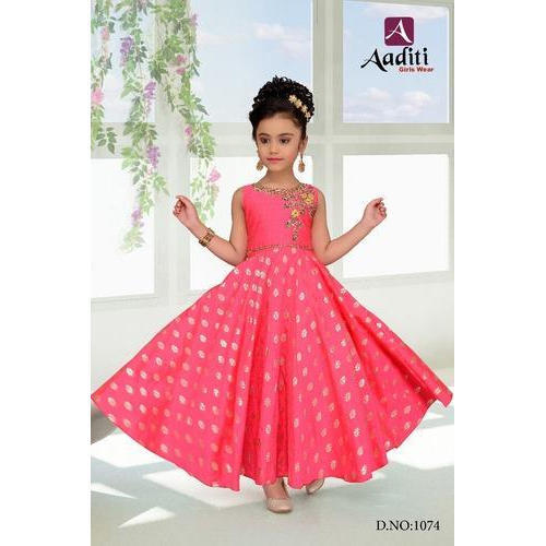 57c54b0e74a7c Printed Georgette Kids Party Wear Gown, Rs 995 /piece, Siddhi ...