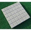 Grey Matt Finish Square Chequered Concrete Tiles, Thickness: 25 Mm