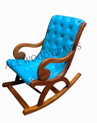 Modern Sheesham Wood Rocking Chair/ Sing Chair/ Easy Chair, Back Style: Tight Back, 38x39x23cm