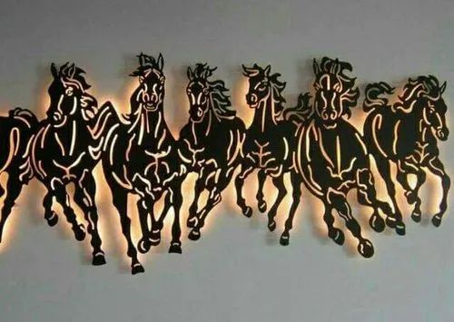 Led Iron Wall Decor Horse