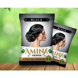 Amina Henna Black for Hair, Packaging Type: Packet