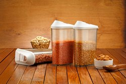 Plastic Plain Easy Flow Grocery and Food Storage Container, Packaging Type: Box, 20 x 14 x 9 cm