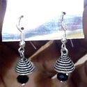 Silver Plated Black Jhumki
