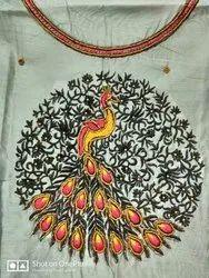 Formal Wear Cotton Chanderi Dress Material