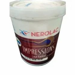 Nerolac Impressions 24 Carat Luxury Emulsion Wall Paint, Packaging Type: Bucket, Packaging Size: 20 Litre