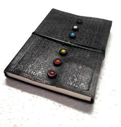 Designer Leather Journal with Multi Color Stone