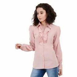 Plain Georgette Ladies Designer Shirt